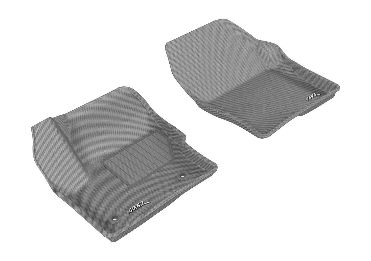 L1LC00711501 3D MAXpider Front Row Custom Fit All-Weather Floor Mat for Select Lincoln MKC Models Gray Kagu Rubber