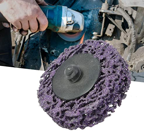 5pcs 2inch 50mm Poly Strip Disc Roll Lock Grinding Wheel Rust Paint Remover Available in Multicolor Purple Black Grinding Wheel Polished Disc 2in-Purple