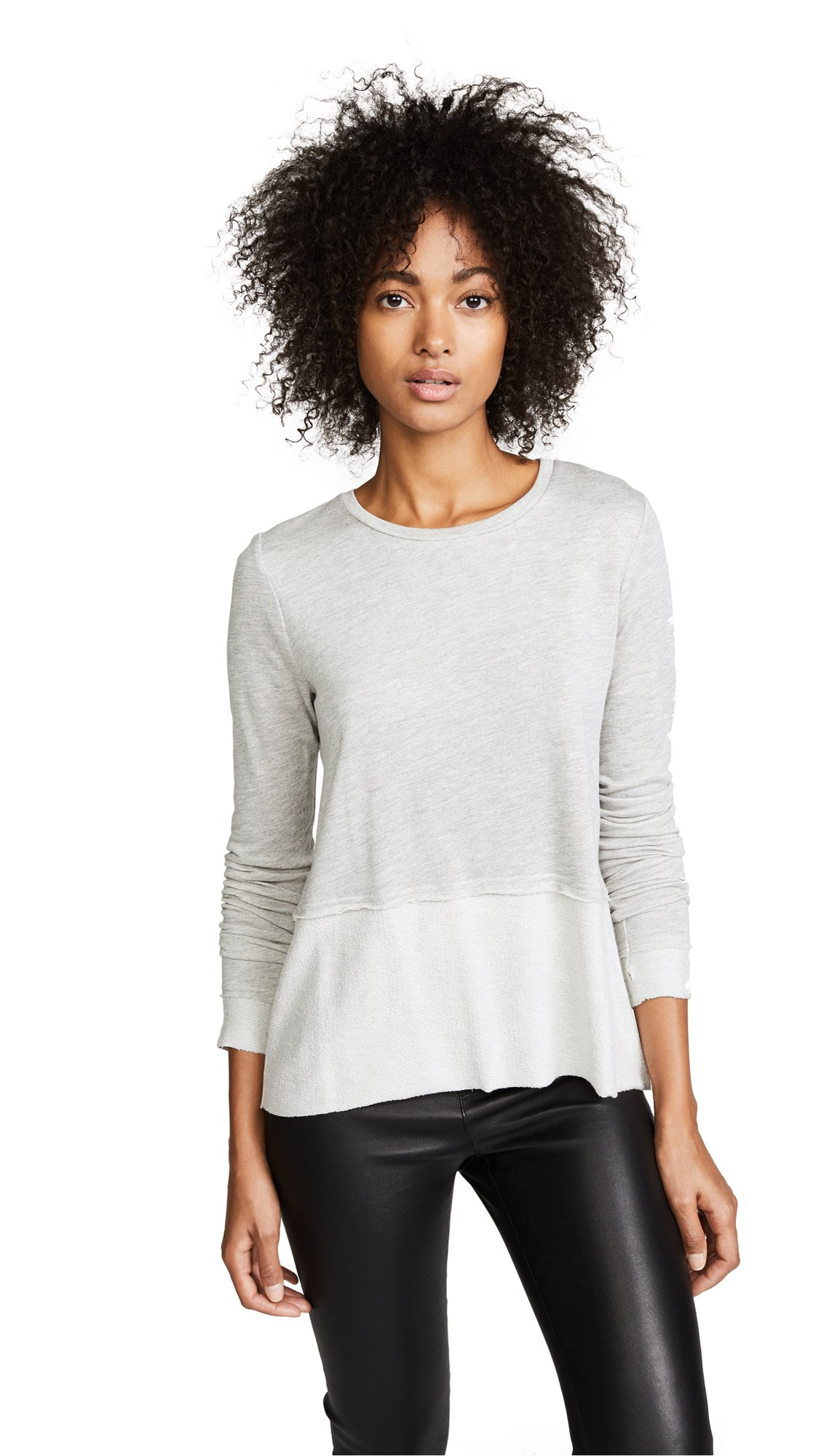 Generation Love Women's Wren Split Back Tee, Grey, Large