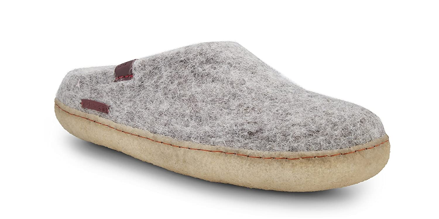 betterfelt Unisex Classic Woolen Slipper for Adults - All Natural Wool - Ultra Comfortable - Many Sizes and Colors B079CK9N2P Adult 38|Grey
