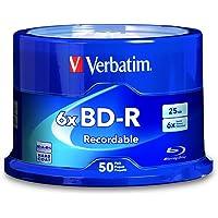Verbatim 98397 lectura/escritura de disco Blu-ray (BD) BD-R 25 GB 50 pieza(s) - BD-RE vírgenes (BD-R, 25 GB, 6x, Caja para pastel, 50 pieza(s))