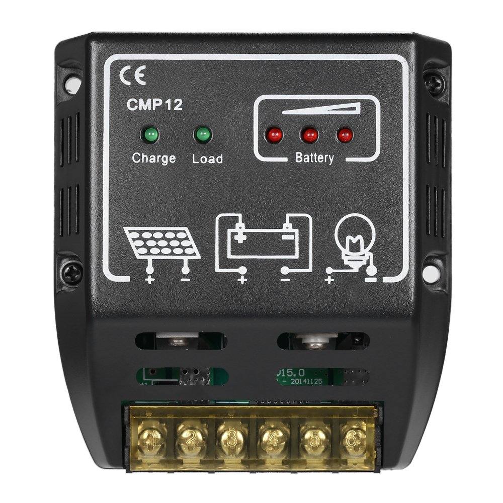 Anself Solar Charge Controller Charging Regulator For 12 Volt Timer Relay Maplin Panel Battery Overload Protection 11a Garden Outdoor