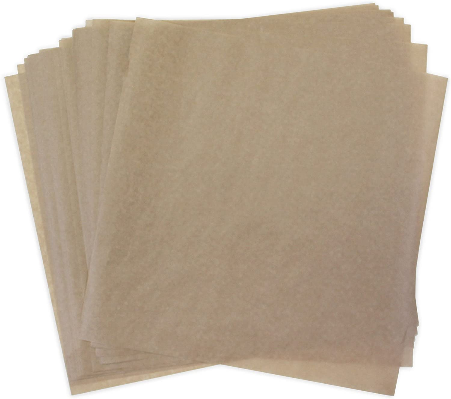 Dry Wax Paper Deli Wrap and Basket Liner (50, Natural Brown Kraft 12x12)