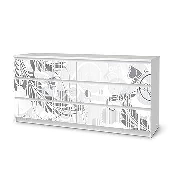 creatisto Möbeldekor für Ikea Malm 6 Schubladen (Breit)   Klebefolie ...