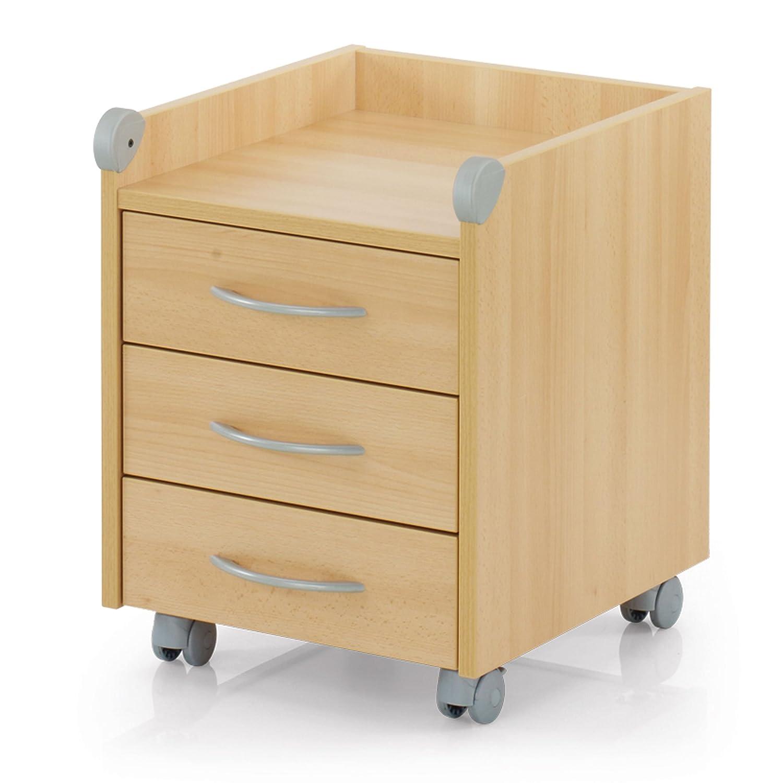kettler rollcontainer aus holz schreibtisch rollcontainer mit 3 schubladen stabi ebay. Black Bedroom Furniture Sets. Home Design Ideas