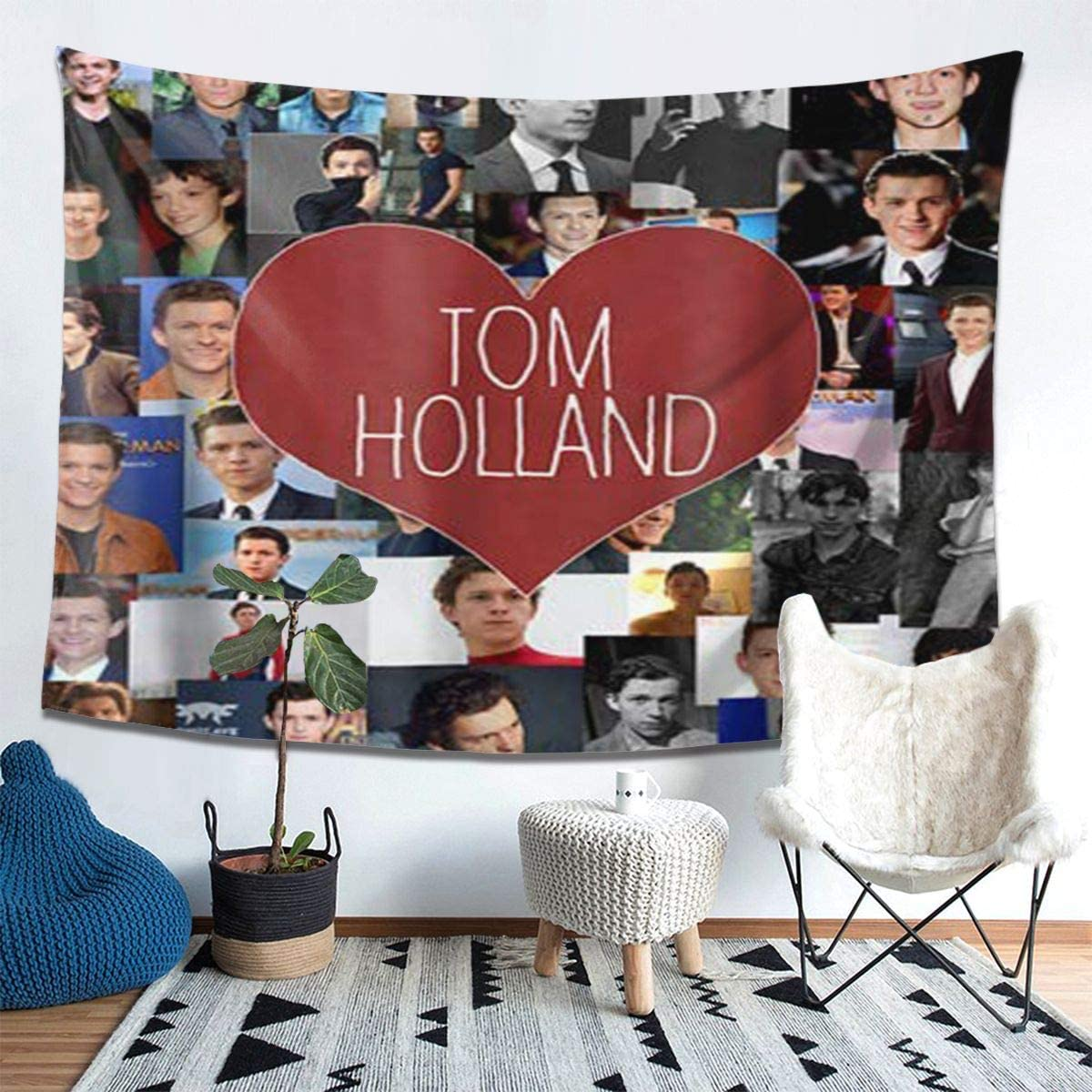 Winsle Modern Art Tapestry Tom-Holland Home Decor Wall Hanging for Living Room Bedroom Dorm 80 x 60inch