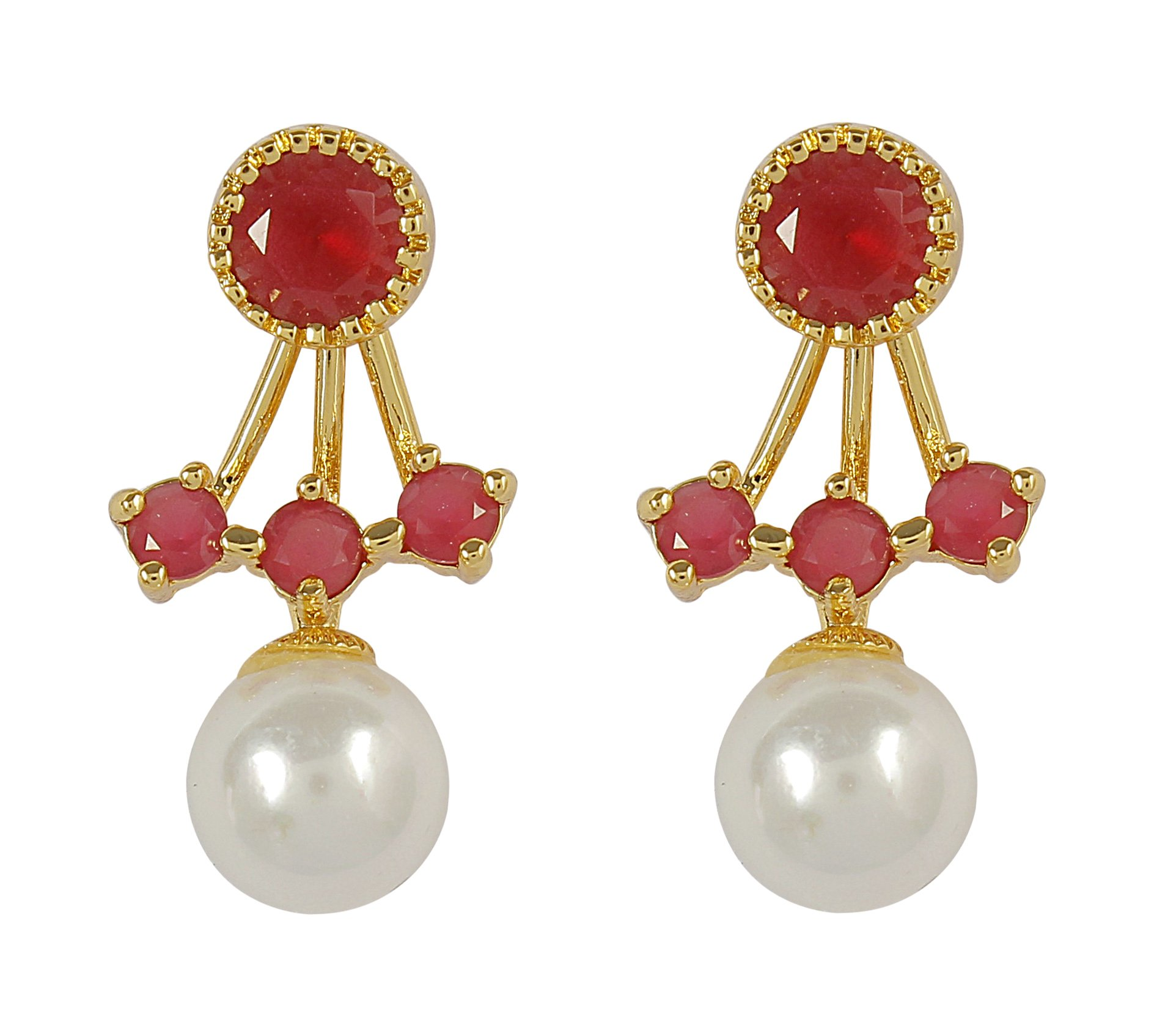 MUCH-MORE Amazing Bollywood Style Diamontic Earring Partywear Indian Jewelry (1055)