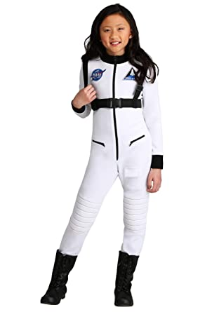 Disfraz de astronauta blanca para niña - Blanco - Medium ...