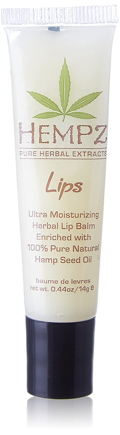 Hempz Herbal Ultra Moisturizing Lip Balm .44 oz. - Scented Lip Treatment for Dry Cracked Lips, Provides Hydration and Nourishment for Men and Women - Premium, 100% Pure Natural Hemp Seed Oil