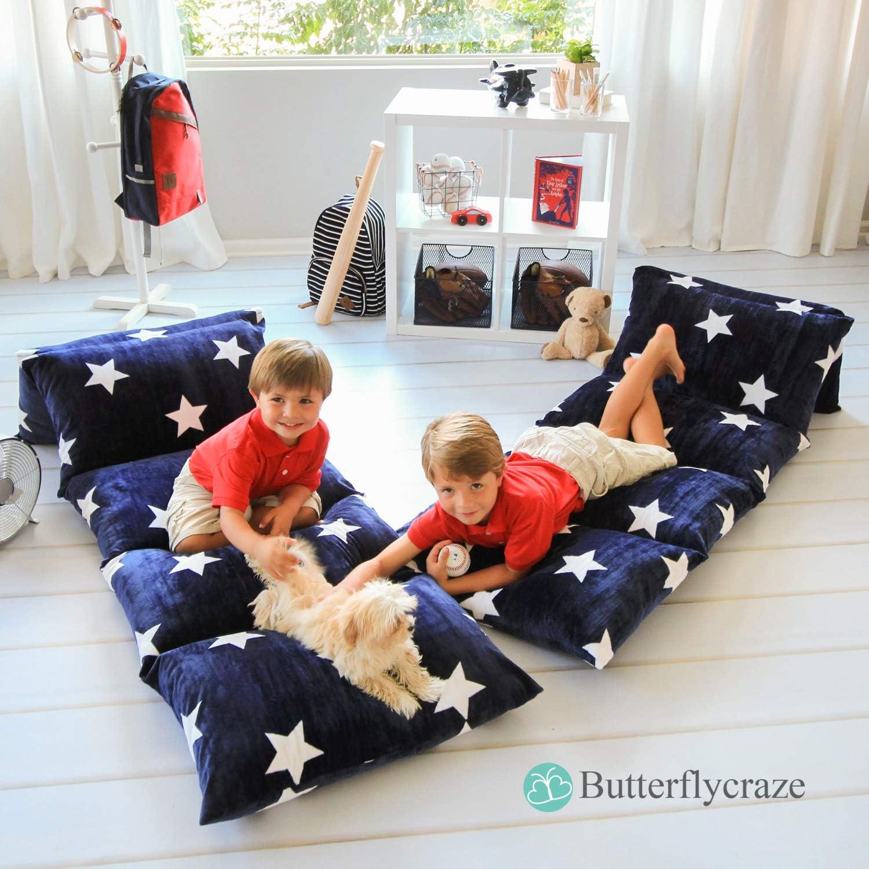 Butterfly Craze kids floor pillow