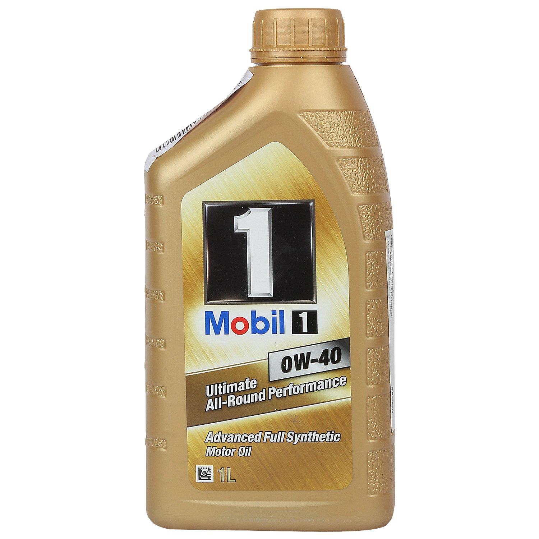 Mobil 1 0w 40 Api Sn Sm Sl Fully Synthetic Motor Oil 1 L Golden Amazon In Car Motorbike