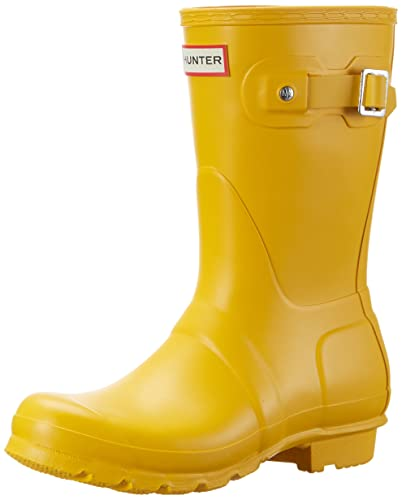 Hunter Damen Original Short Wellington Boots Gummistiefel, Gelb (Yellow), 37 EU