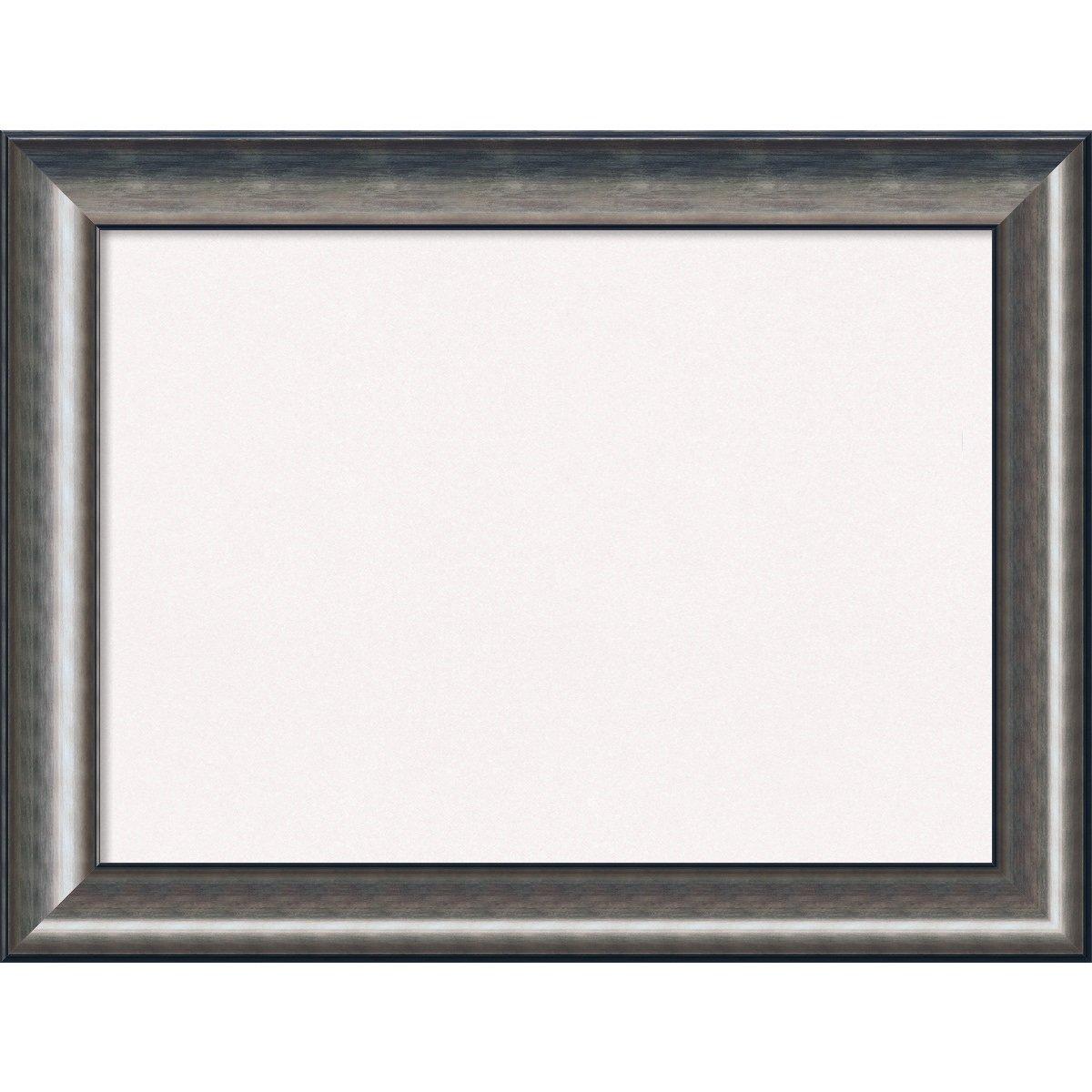 Amanti Art Framed White Cork Board Bulletin Board | White Cork Boards Quicksilver Scoop Frame | Framed Bulletin Boards | 33.75 x 25.75