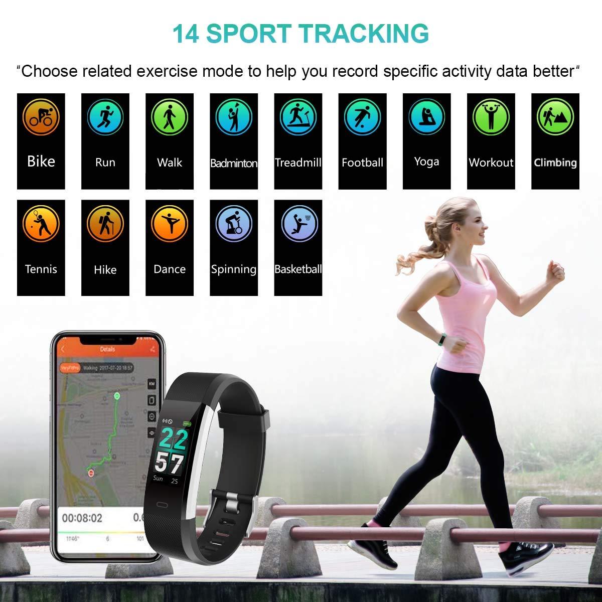 Pulsera Actividad con Pantalla Color Pulsera Inteligente GPS ...