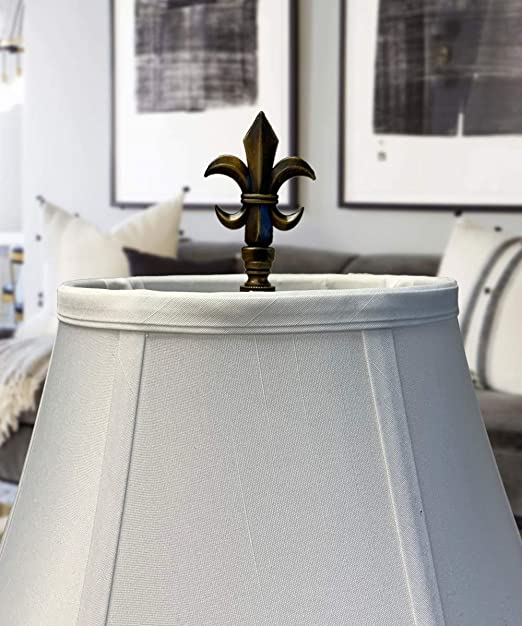 Metal Lamp Shade Holder Finial Lot Large 3 /& 3 14 inch Vintage Fleur Du Lis