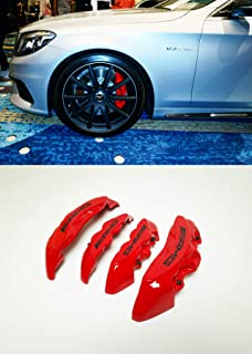 4pcs Blue Disc Brake Caliper Cover Kit For Mercedes-Benz C200 C300 AMG CLS SL