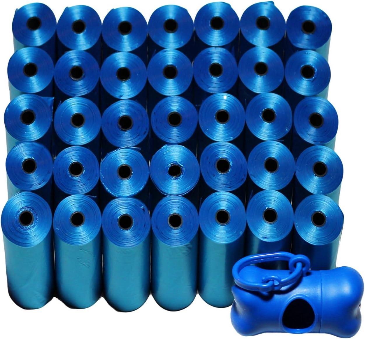 Poop Bag Shop 700-Count Dog Pet Waste Poop Bags, 35 Refill Rolls with Poop Bag Dispenser, Blue