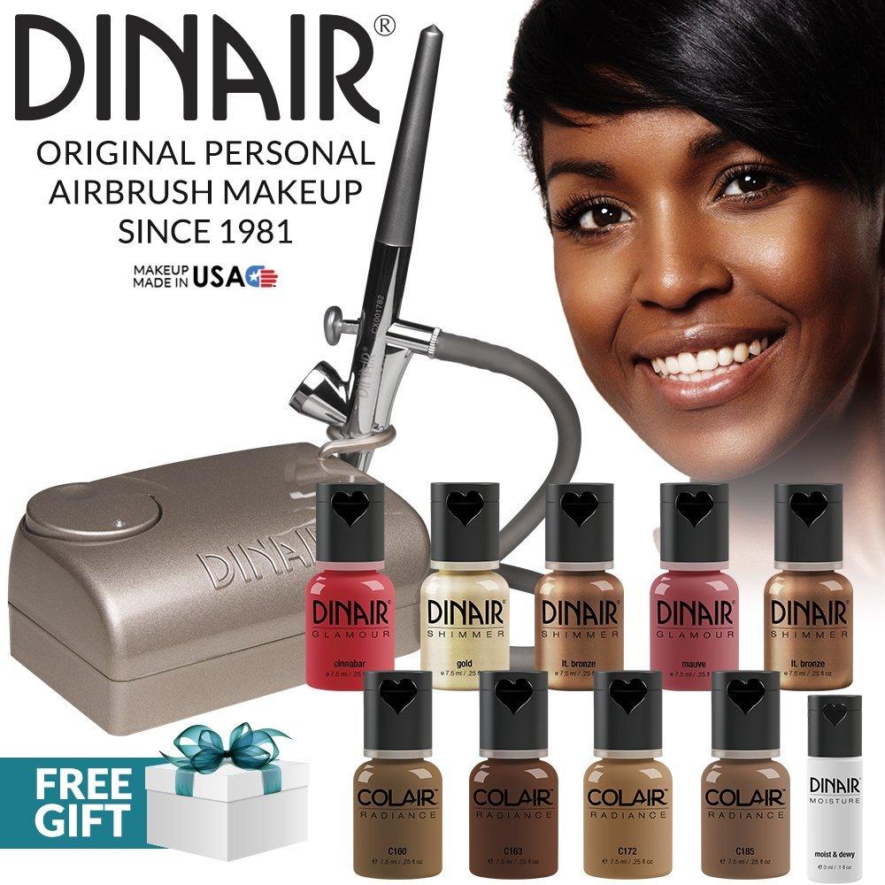 Dinair 10pcs (10 piece kit, Dark Shades)