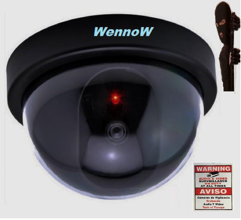 Amazon.com : WennoW Dummy Fake Surveillance Security Dome Imitation In/Outdoor Camera w/Flashing LED : Camera & Photo