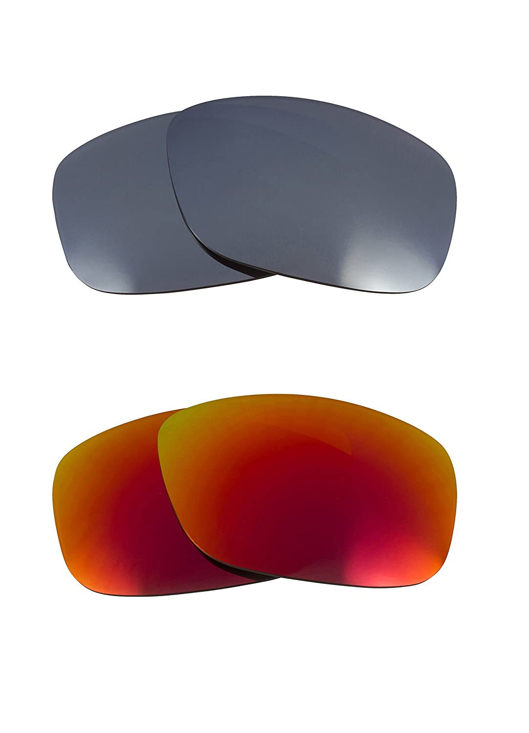 fd8f91c702f New SEEK Replacement Lenses Oakley GASCAN S - Polarized Red Silver   Amazon.co.uk  Clothing