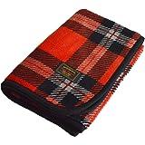 TRANPARAN マイヤーブランケット ひざ掛け 着る毛布 3WAY 70×100cm (タータンチェックレッド)