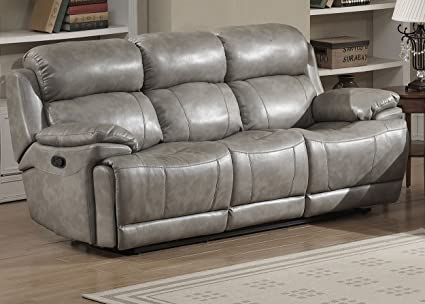 Christies Home Living Estella Reclining Sofa, Gray