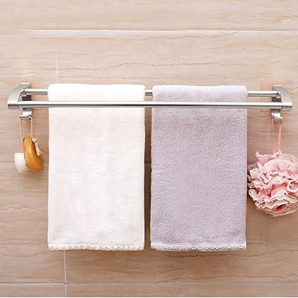 Espacio De Aluminio Cuarto De Baño Lavabo Toallero Minimalista Estante Para Toallas Soporte Para Montaje En