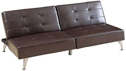 Amazon.com: Best Selling Adolfo Click-Clack Convertible Leather Sofa ...