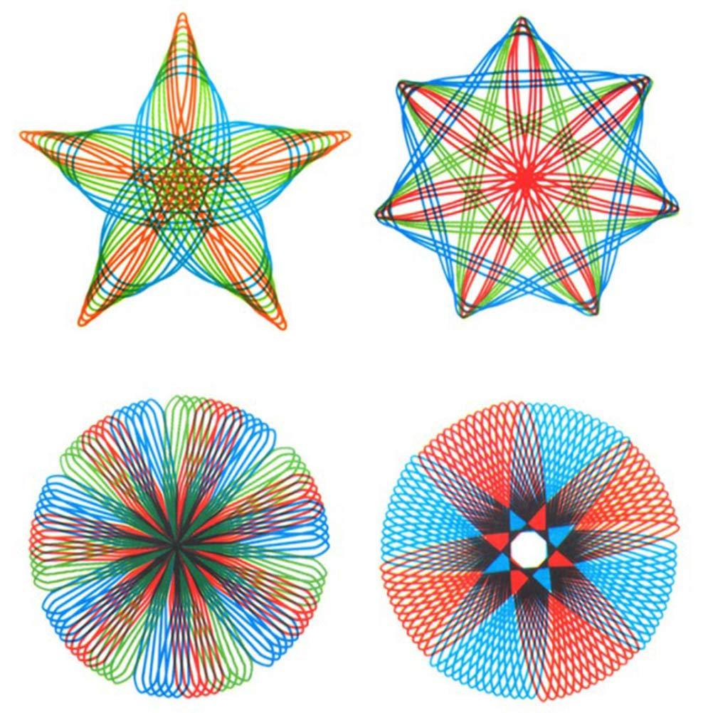 Bweele Spirograph 27pcs Engrenages embo/ît/és Roues Dessin Jouets Set Pull Spirale Conception Jouet /éducatif cr/éatif pour Adultes et Enfants