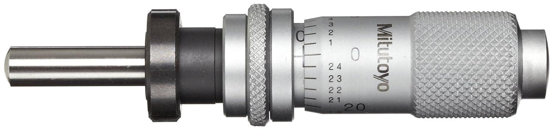 Mitutoyo 148-814 Micrometer Head, 0-0.5' Range, 0.001' Graduation, Plus /-0.0001' Accuracy, Plain Thimble, Clamp Nut, Spherical SR4 Face, Spindle Lock 0-0.5 Range 0.001 Graduation Plus /-0.0001 Accuracy