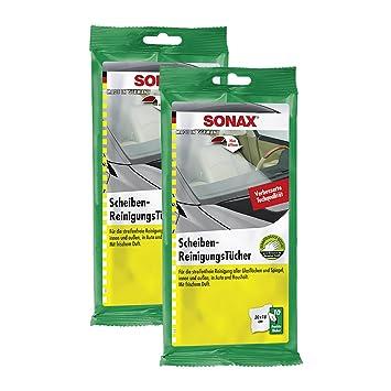 Toallitas húmedas Sonax 04150000, para lunas, no arañan, 2 paquetes de 10 unidades: Amazon.es: Coche y moto
