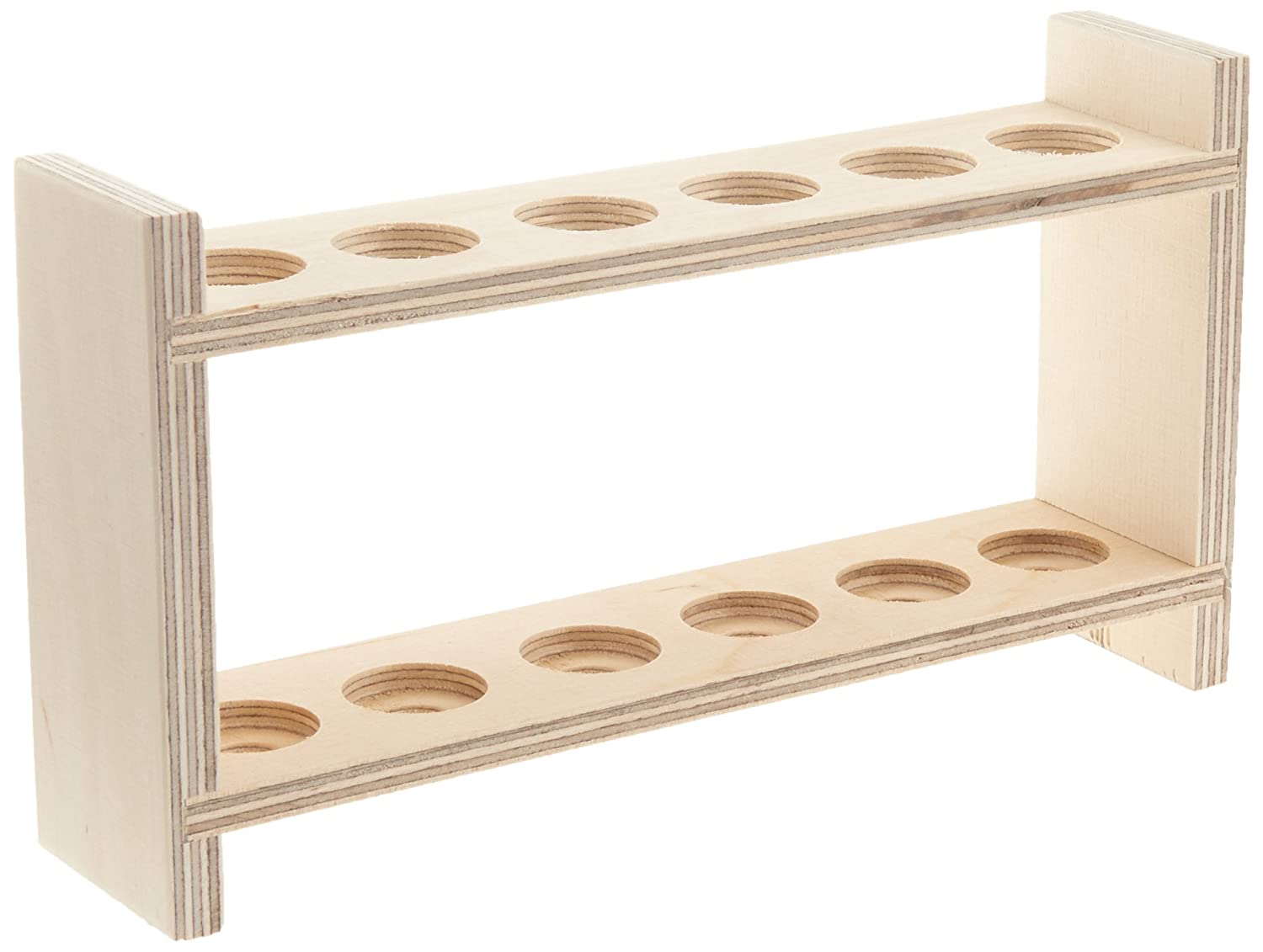 neoLab E-7051  wooden test tube rack for 6  test tubes hole diameter 22  mm