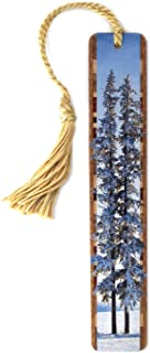 product image for Six Below Freezing - Winter Landscape Color Photograph by Mike DeCesare Wooden Bookmark with Tassel