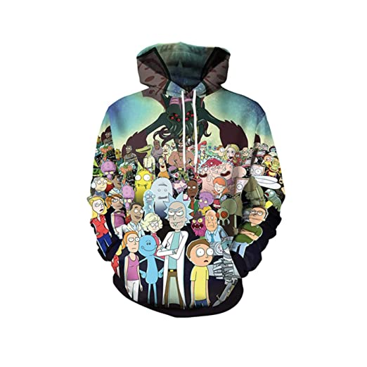 Amazon.com: RMXZ Mens 3D Sweatshirts Hoodies Comic Hooded Hoody Casual Streetwear: Clothing