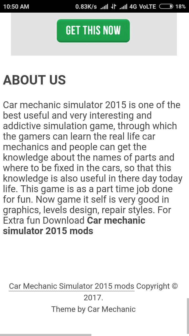 Amazon com: Car Mechanic simulator 2018 mods: Appstore for Android