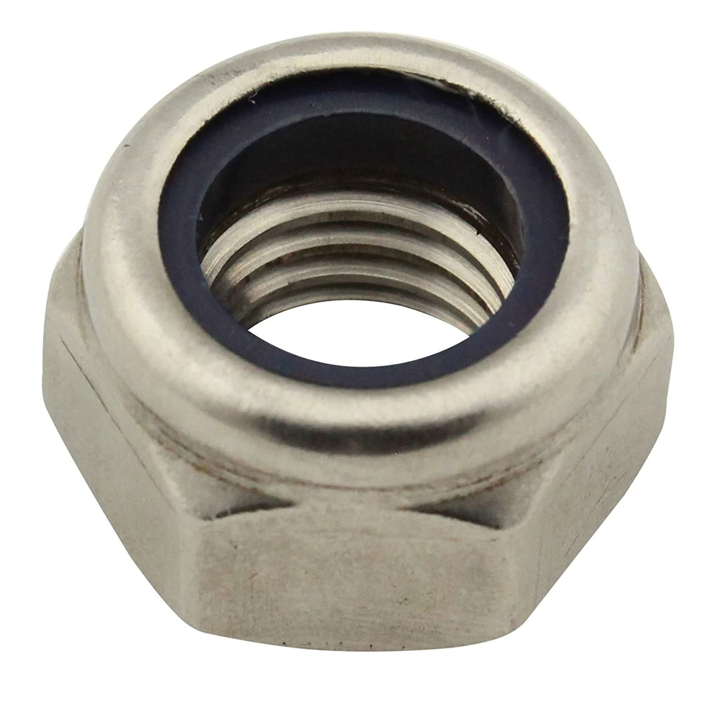 SC-Normteile | 25 Stü ck Sicherungsmuttern (Standard) | Stoppmuttern | M3 | DIN985 | rostfreier Edelstahl A2 (V2A) / NIRO | SC985