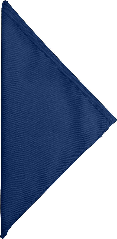 Ultimate Textile Poly-Cotton Twill 10 x 10-Inch Cocktail Napkins -1 Dozen- Navy Blue