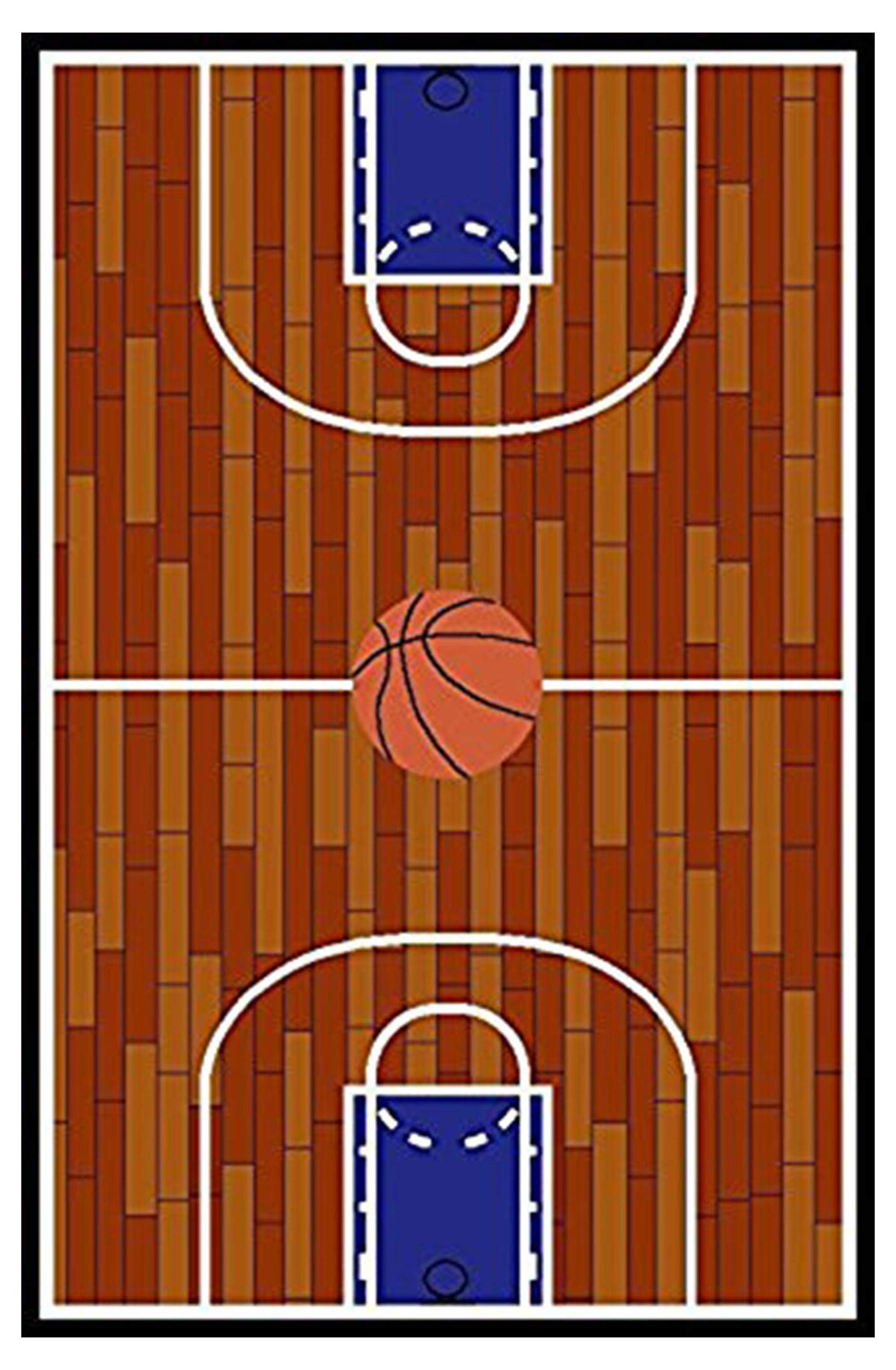 Furnish my Place 690 Rust Basketball Ground Kids Area Rug, 4'5 X 6'9 by Furnish my Place