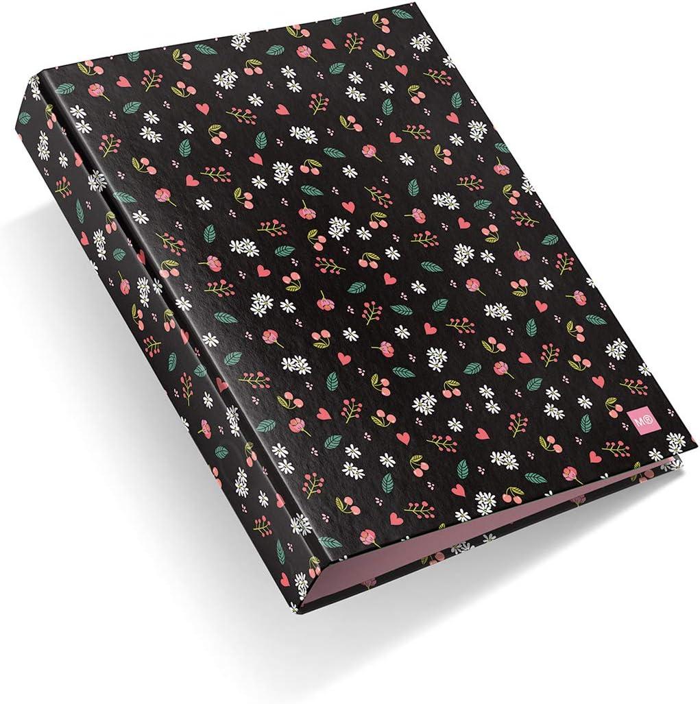 Miquelrius - Pack con 2 carpetas cartón, 4 anillas de 40 mm A4, sakura: Amazon.es: Oficina y papelería