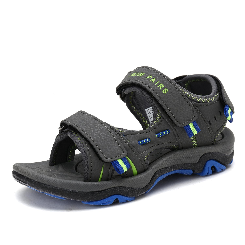 DREAM PAIRS Little Kid 170891_K Dk.Grey N.Green Blue Fashion Athletic Sandals Size 1 M US Little Kid