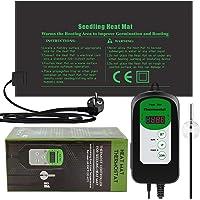 RIOGOO 24 * 52 cm zaailing Warmte Mat en Thermostaat Controller 46-100 ° F Digitale Thermostaat Controller IP68…