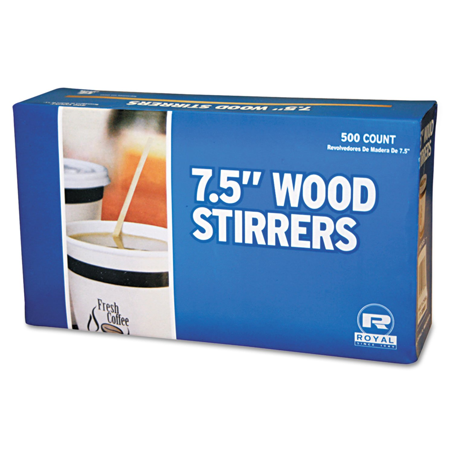 RPPR825 - Wood Coffee Stirs, 7 1/2quot, Natural