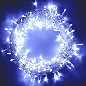MYGOTO 98FT 200 LEDs String Lights Waterproof Fairy Lights 8 Modes with Memory 30V UL Certified Power Supply for Home, Garden, Wedding, Party, Christmas Decoration Indoor Outdoor (Cool White)