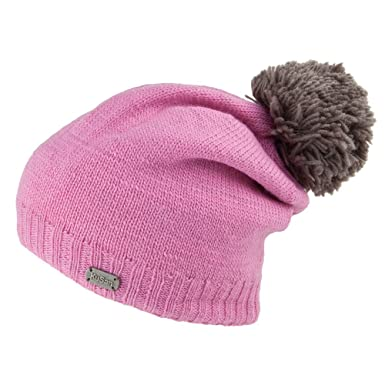 155268bbb1e Kusan Hats Contrast Pom Slouch Bobble Hat - Pink 1-Size  Amazon.co.uk   Clothing