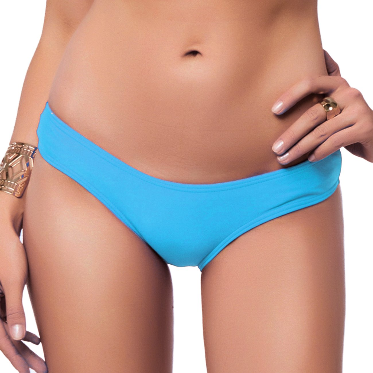dc941fafa0ee4 Sexy Brazilian Bikini Bottom for women V Cheeky T-Back Booty Solid Classic Ladies  Swimsuit