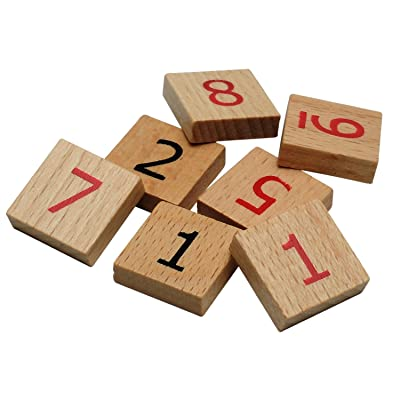 WE Games Replacement Wooden Sudoku Number Tiles - Extra Set of Pieces: Toys & Games