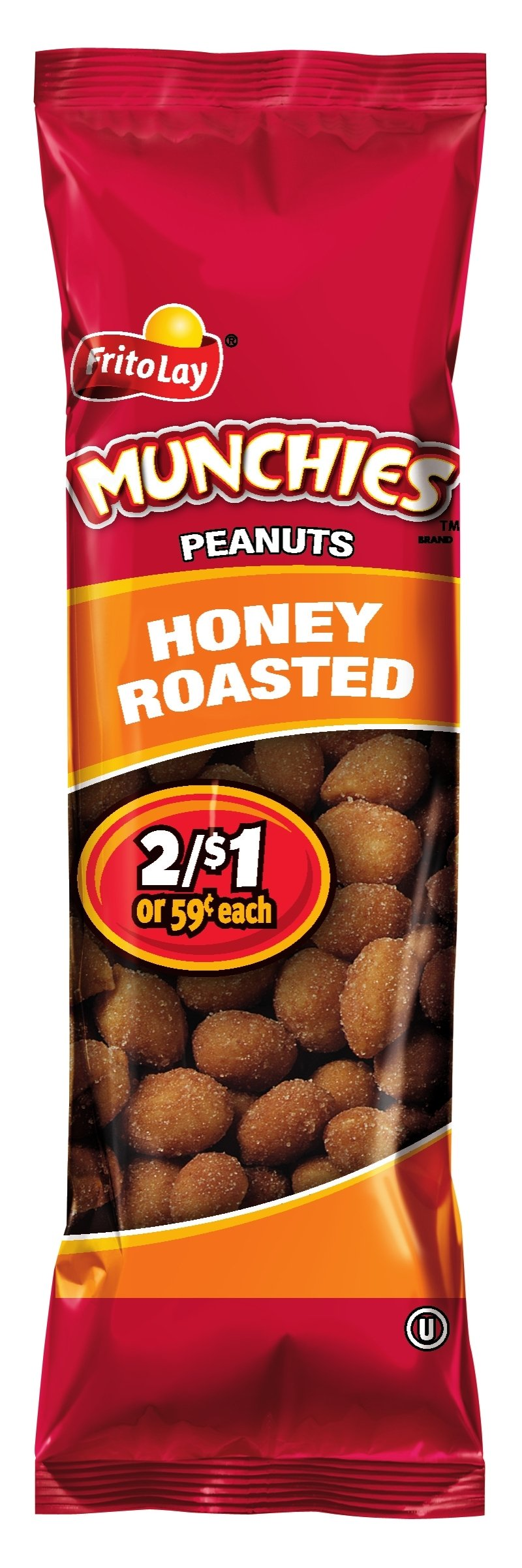 Munchies Peanuts, Honey Roasted, 1.38 Ounce (Pack of 32)