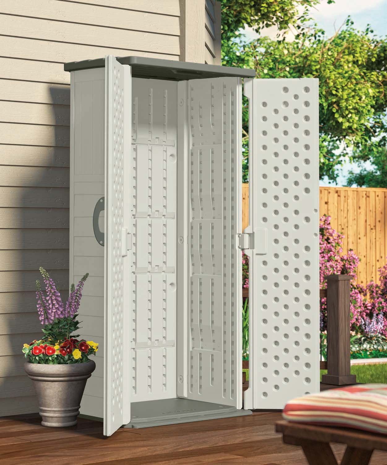 Amazon.com  Suncast BMS1250 Shed Tool Vertical 22 cu. ft.  Storage Sheds  Garden u0026 Outdoor & Amazon.com : Suncast BMS1250 Shed Tool Vertical 22 cu. ft ...