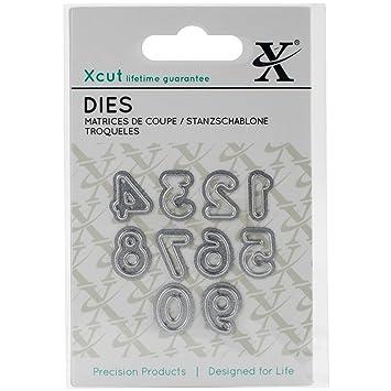 Mini Paper Card Craft Metal Die 10 Pieces Xcut Docrafts - Serif Numbers