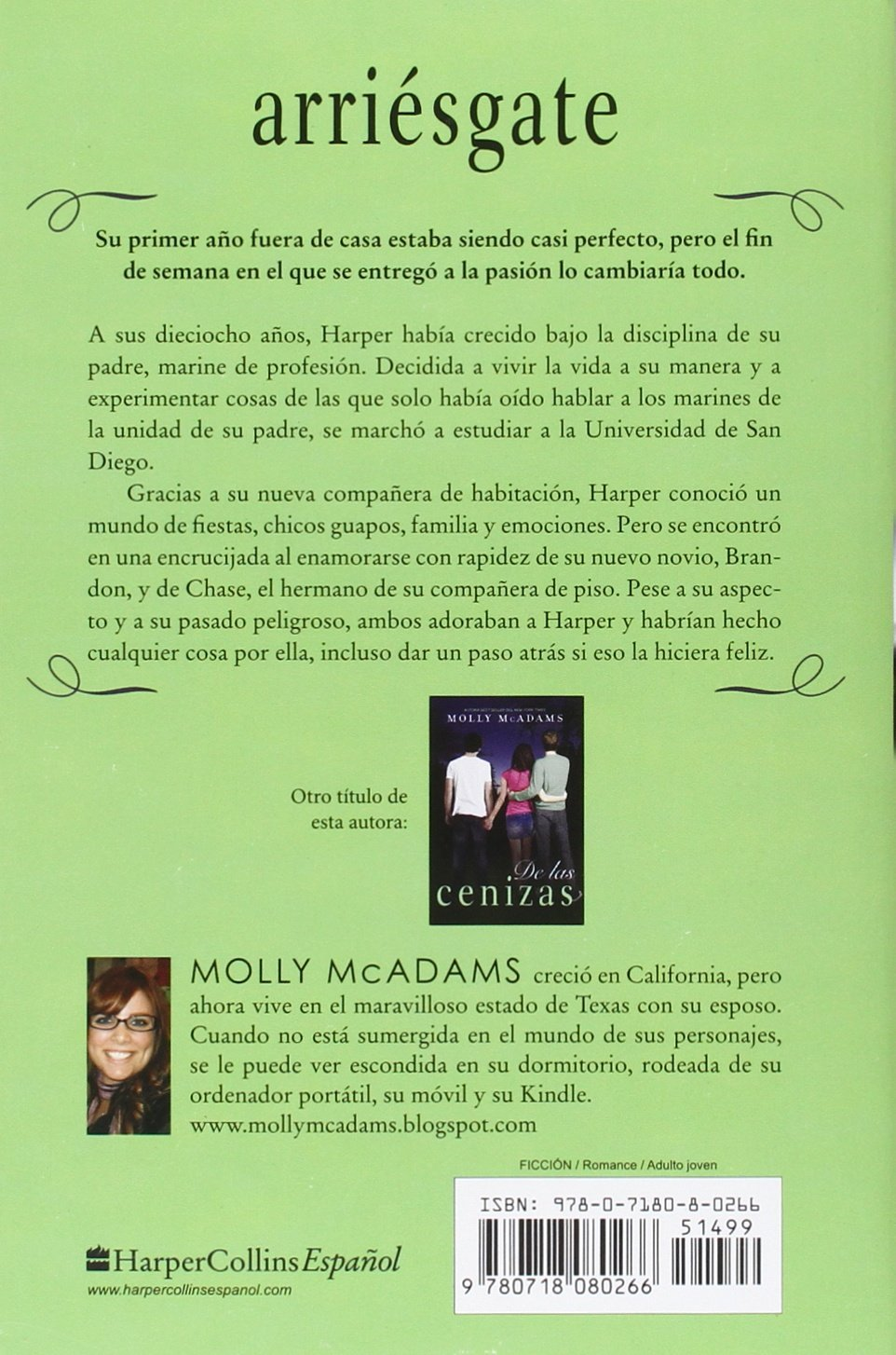 Arriésgate (Spanish Edition): Molly McAdams: 9780718080266: Amazon.com: Books